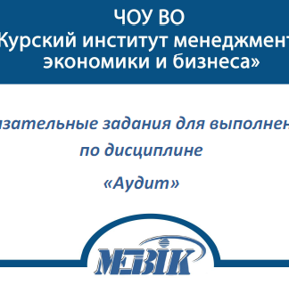 МЭБИК Аудит ТМ-009/193 (Ответы теста)