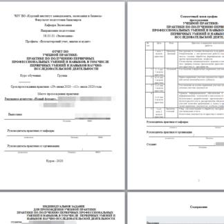 МЭБИК Отчет по учебной практике Бухучет
