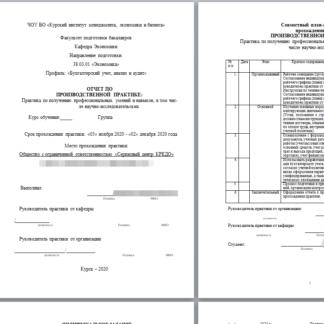 Отчет по производственной практике Бухучет МЭБИК