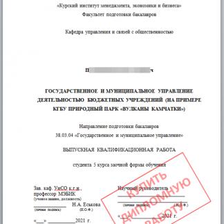 МЭБИК заказ дипломной работы по государственному и муниципальному управлению